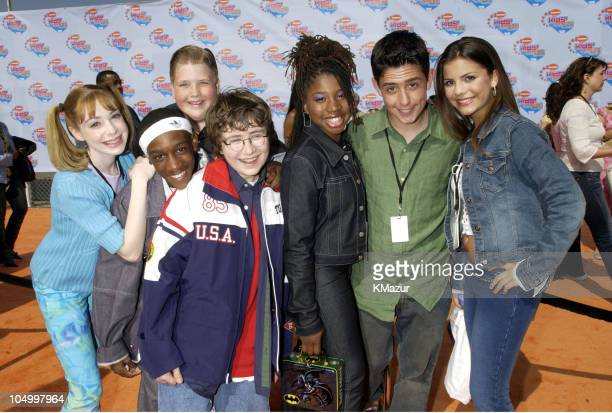 Cast of 'All That' during Nickelodeon's 15th Annual Kids Choice Awards Arrivals at Barker Hanger in Santa Monica California United States