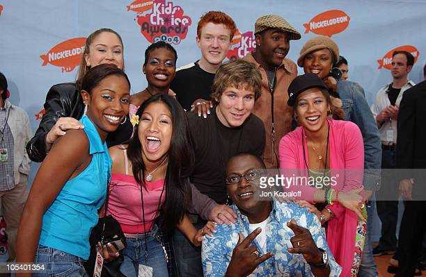 Cast of American Idol with Randy Jackson during Nickelodeon's 17th Annual Kids' Choice Awards Arrivals at Pauley Pavillion in Westwood California...