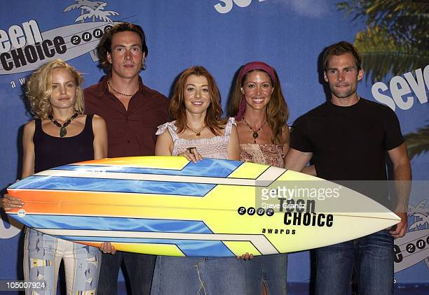 Cast of 'American Pie 2' during The 2002 Teen Choice Awards Press Room at Universal Amphitheater in Universal City California United States