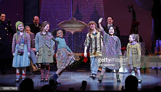 Cast of 'Annie' at the 'Annie' Broadway Opening Night at the Palace Theatre on November 8 2012 in New York City