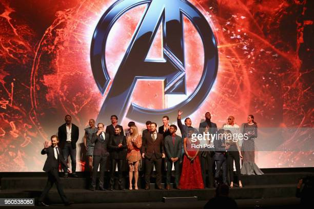 Cast of 'Avengers Infinity War' attend the Los Angeles Global Premiere for Marvel Studios' Avengers Infinity War on April 23 2018 in Hollywood...