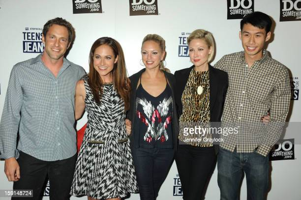 Cast of Awkward Mike Faiola Nikki Deloach Desi Lydic Barret Swatek and Kelly Sry attend the 6th Annual Teens for Jeans Campaign Party held at...