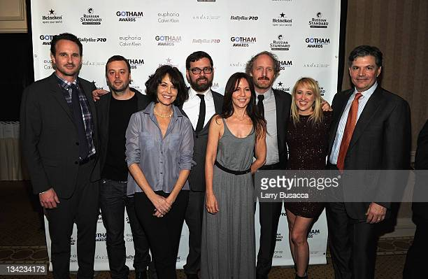 Cast of Beginners pose during the IFP's 21st Annual Gotham Independent Film Awards at Cipriani Wall Street on November 28 2011 in New York City