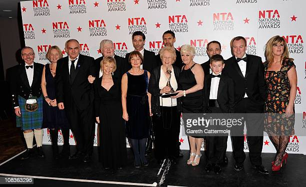 Cast of 'Benidorm' with their Most Popular Comedy Programme award during the National Television Awards at the O2 Arena on January 26 2011 in London...
