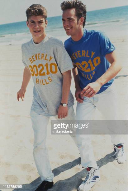 Cast of Beverly Hills 90210 Brian Austin Green and Luke Perry