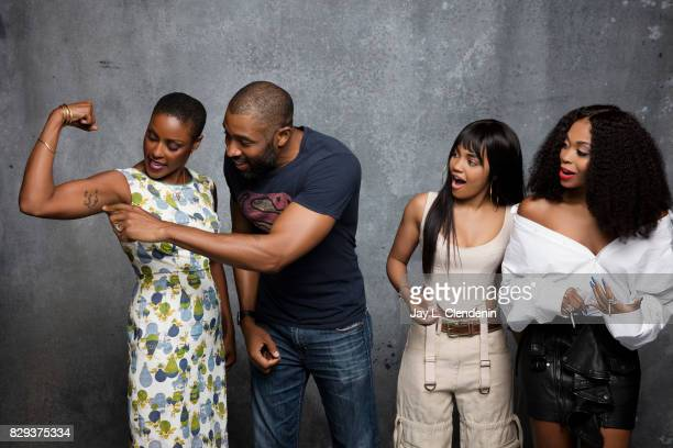 Cast of Black Lightning are photographed in the LA Times photo studio at ComicCon 2017 in San Diego CA on July 22 2017 CREDIT MUST READ Jay L...