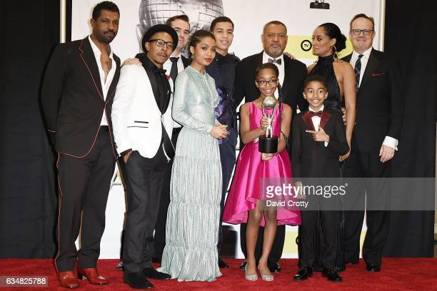 Cast of Blackish attends the 48th NAACP Image Awards at Pasadena Civic Auditorium on February 11 2017 in Pasadena California