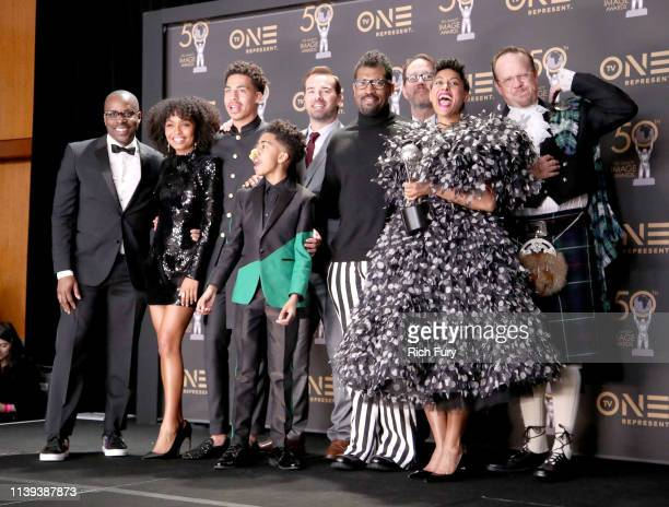 Cast of Blackish winner of Outstanding Comedy Series attend the 50th NAACP Image Awards at Dolby Theatre on March 30 2019 in Hollywood California