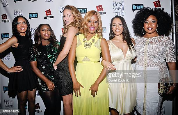 Cast of 'Blood Sweat and Heels' Brie Bythewood Geneva S Thomas Mica Hughes Daisy Lewellyn Melyssa Ford and Demetria Lucas attend the season premiere...