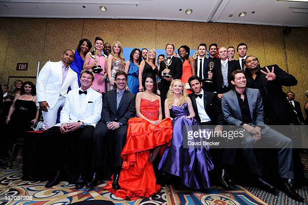 Cast of Bold and the Beautiful winner of Outstanding Drama Series award pose in the press room at the 38th Annual Daytime Entertainment Emmy Awards...