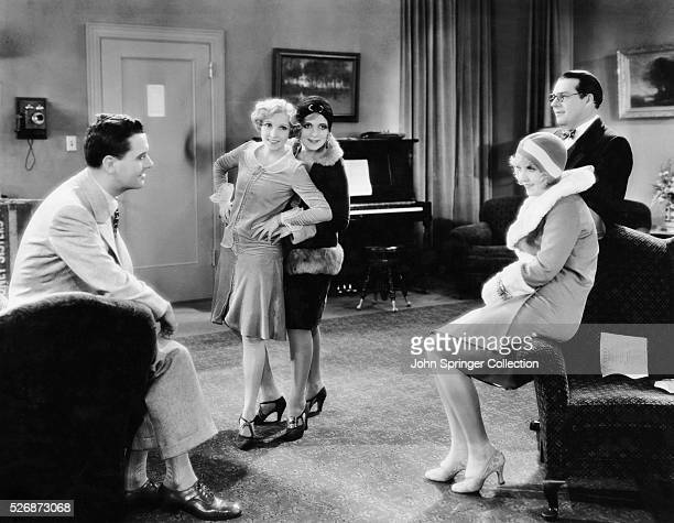 Cast of Broadway Melody of 1929 Charles King Bessie Love Mary Doran Anita Page and Nacio Herb Brown