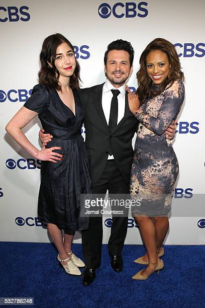 Cast of Bull Annabelle Attanasio Freddy Rodriguez and Jamie Lee Kirchner attend the 2016 CBS Upfront at The Plaza on May 18 2016 in New York City