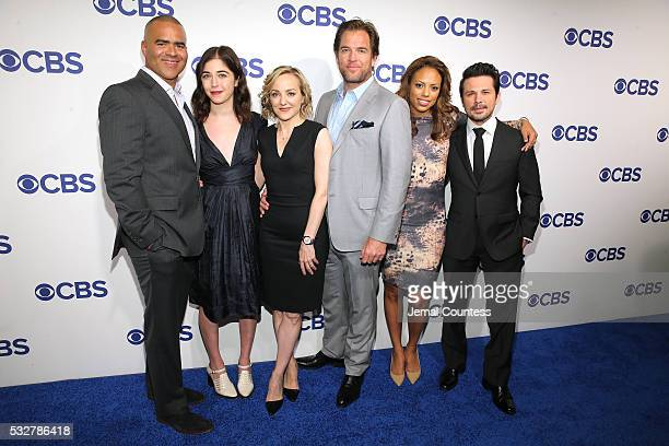 Cast of Bull Chris Jackson Annabelle Attanasio Geneva Carr Michael Weatherly Jamie Lee Kirchner and Freddy Rodriguez attend the 2016 CBS Upfront at...
