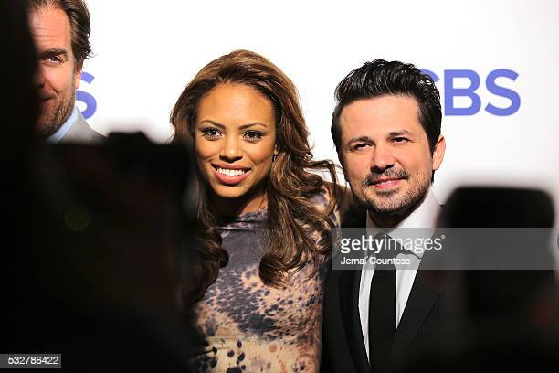 Cast of Bull Jamie Lee Kirchner and Freddy Rodriguez attend the 2016 CBS Upfront at The Plaza on May 18 2016 in New York City