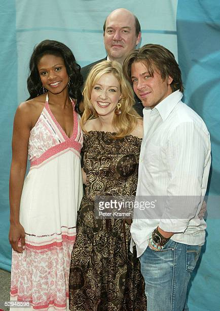Cast of Close to Home actors Kimberly Elise John Carroll Lynch Jennifer Finnigan and Christian Kane attend the CBS upfront at Tavern on the Green on...