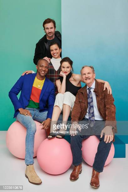 Cast of 'Council Of Dads' Clive Standen, Michele Weaver, J. August Richards, Sarah Wayne Callies and Michael O'Neill are photographed for...