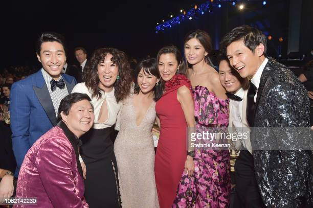 Cast of 'Crazy Rich Asians' attends the 24th annual Critics' Choice Awards at Barker Hangar on January 13 2019 in Santa Monica California