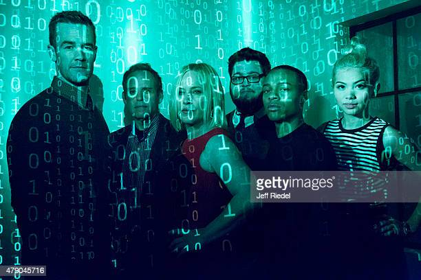 Cast of CSI Cyber is photographed for TV Guide Magazine on January 12 2015 in Pasadena California