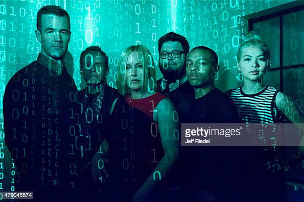 Cast of CSI Cyber is photographed for TV Guide Magazine on January 12 2015 in Pasadena California PUBLISHED IMAGE
