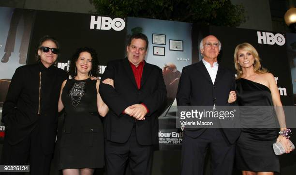 Cast of Curb your Enthusiasm Richard Lewis Susie Essman Jeff Garlin Larry David and Cheryl Hines arrive at HBO's Curb your Enthusiasm Season 7 on...