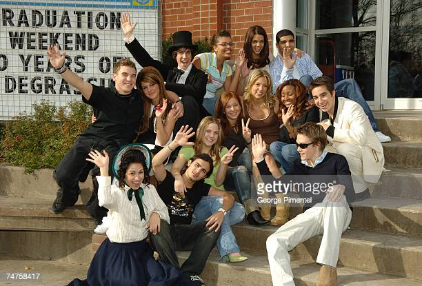 Next Generation celebrate their 100th Episode at the Degrassi High School Set in Toronto Canada