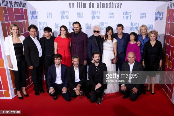 Cast of 'Dolor y Gloria' attend the 'Dolor y Gloria' premiere at Capitol cinema on March 13 2019 in Madrid Spain