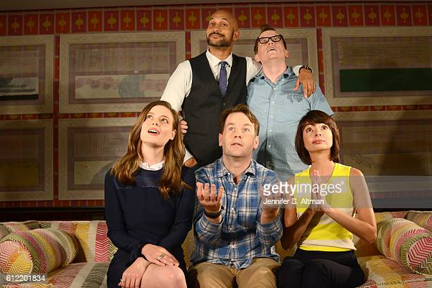 """Cast of """"Don't Think Twice"""" are photographed for Los Angeles Times on July 18, 2016 at the Crosby Street Hotel in New York City."""