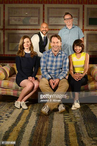 Cast of 'Don't Think Twice' are photographed for Los Angeles Times on July 18 2016 at the Crosby Street Hotel in New York City