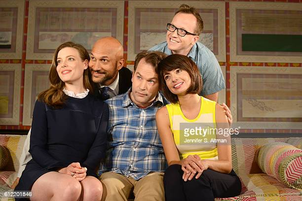 """Cast of """"Don't Think Twice"""" are photographed for Los Angeles Times on July 18, 2016 at the Crosby Street Hotel in New York City. PUBLISHED IMAGE."""