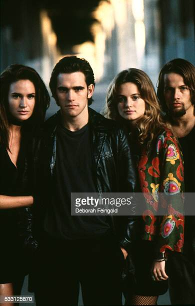 Cast of Drugstore Cowboy Kelly Lynch Matt Dillon Heather Graham and James LeGros