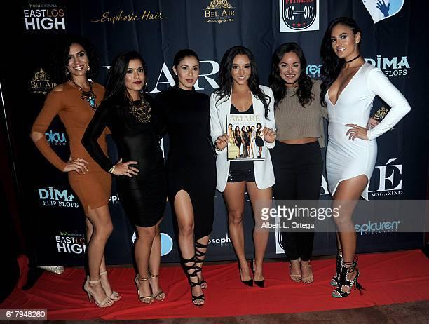 Cast of 'East Los High' Andrea Sixtos Alicia Sixtos Ashley Campuzano Danielle Vega Alex Rodriguez and Jes Meza attend the Amare Magazine 2nd Issue...