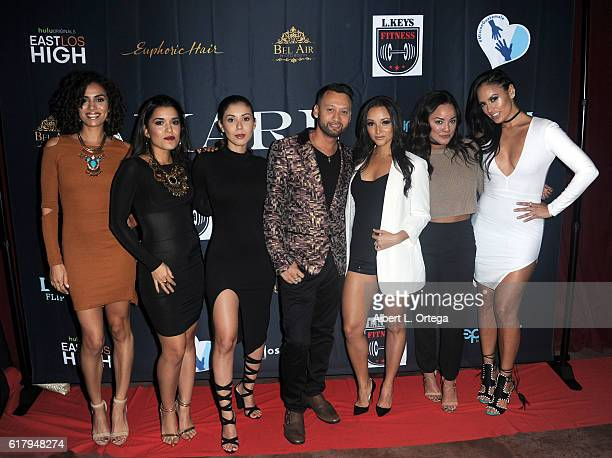 Cast of 'East Los High' Andrea Sixtos Alicia Sixtos Ashley Campuzano Danielle Vega Alex Rodriguez and Jes Meza with CEO Amara Magazine George Rojas...