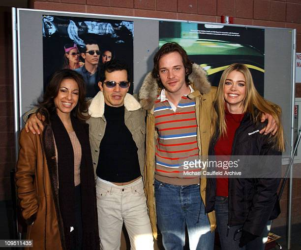 Cast of Empire Delilah Cotto John Leguizamo Peter Sarsgaard and Denise Richards at the film's premiere at the Sundance Film Festival in Park City...
