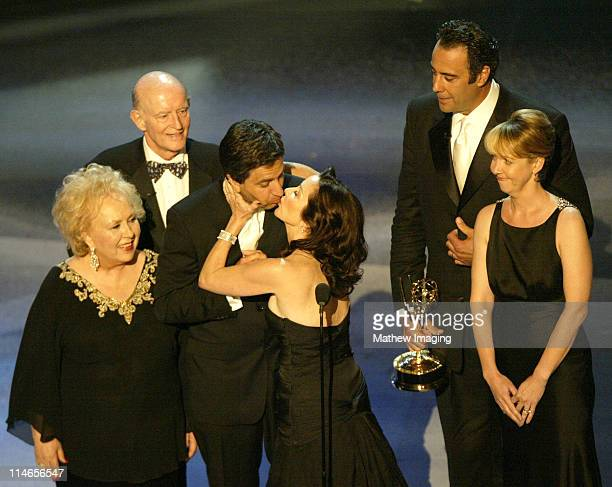 Cast of 'Everybody Loves Raymond' during 57th Annual Primetime Emmy Awards Show at The Shrine in Los Angeles California United States