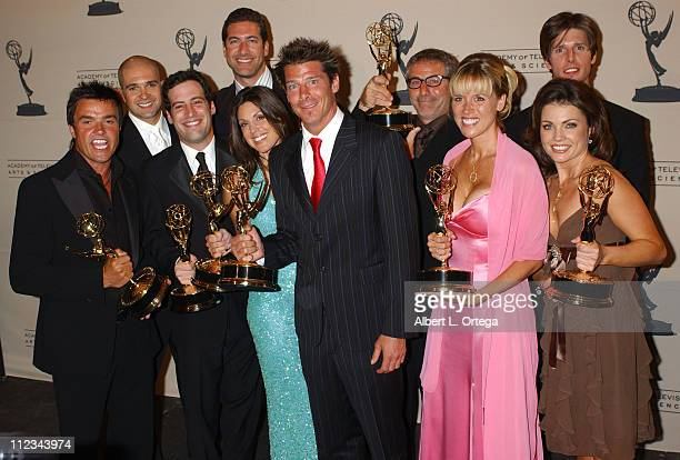 Cast of Extreme Makeover Home Edition during 2005 Emmy Creative Arts Awards Press Room at Shrine Auditorium in Los Angeles CA United States