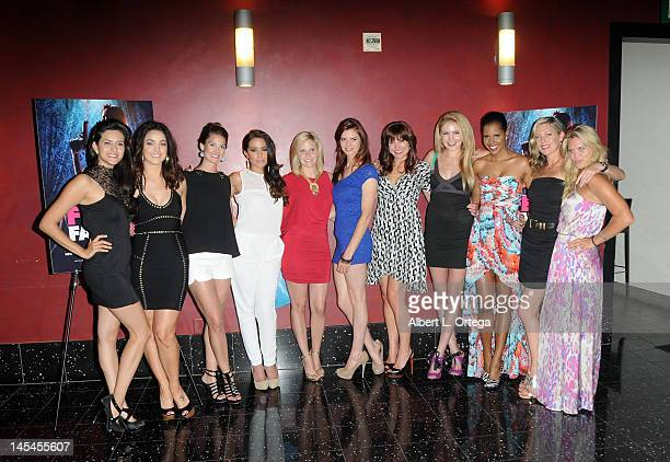 Cast of Femme Fatales at the AfterParty For Cinemax's Femme Fatales 2nd Season held at ArcLight Hollywood on May 21 2012 in Hollywood California