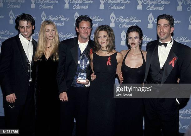 Cast of 'Friends' Matt LeBlanc Lisa Kudrow Matthew Perry Jennifer Aniston Courteney Cox and David Schwimmer