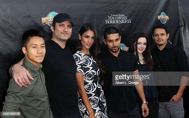 Cast of From 'Dawn Until Dusk' Brandon Soo Hoo Robert Rodriguez Eiza Gonzalez Wilmer Valderrama Madison Davenport and Jesse Garcia arrive for...
