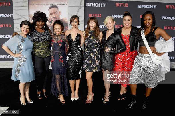 Cast of 'Glow' attends the LA Premiere of Netflix Films 'BRIGHT' on December 13 2017 in Los Angeles California