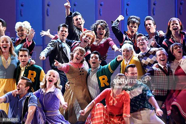 Cast of 'Grease' perform on stage during the 62nd Annual Tony Awards at Radio City Music Hall on June 15 2008 in New York City
