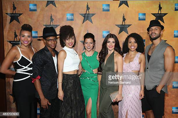 Cast of Hamitlon attend the 'Hamilton' Broadway Opening Night at Pier 60 on August 6 2015 in New York City