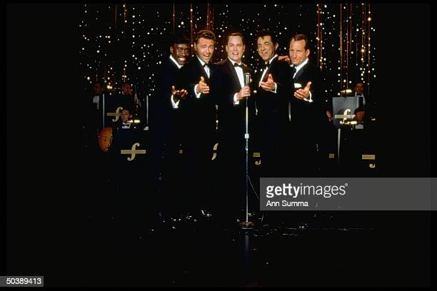 Cast of HBO TV film The Rat Pack Don Cheadle as Sammy Davis Jr Angus Macfayden as Peter Lawford Ray Liotta as Frank Sinatra Joe Mantegna as Dean...