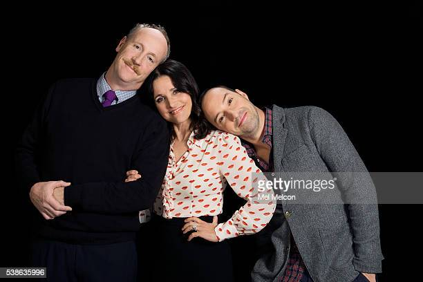 Cast of HBO's 'Veep' Julia Louis-Dreyfus, Tony Hale, and Matt Walsh are photographed for Los Angeles Times on April 6, 2016 in Los Angeles,...