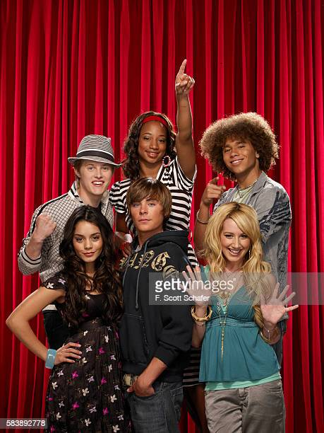 Cast of High School Musical clockwise from top left Lucas Grabeel Monique Coleman Corbin Bleu Ashley Tisdale Zac Efron and Vanessa Hudgens are...