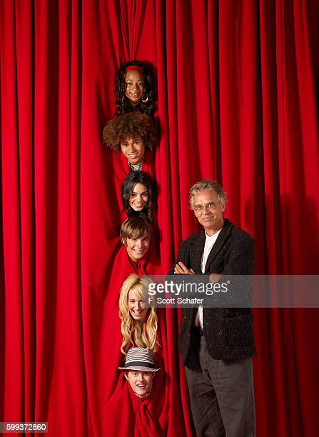 Cast of High School Musical with Executive Producer Bill Borden are photographed in 2006