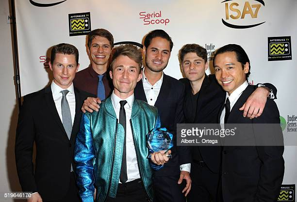 Cast of Hunting Season winner Best Comedy at the 7th Annual Indie Series Awards held at El Portal Theatre on April 6 2016 in North Hollywood...