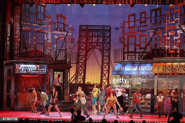 Cast of 'In the Heights' perform on stage during the 62nd Annual Tony Awards at Radio City Music Hall on June 15 2008 in New York City