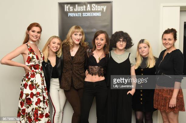 Cast of 'It's Just A Story' attend world premiere of Allisyn Ashley Arm's 'It's Just A Story' at Gray Studios on May 12 2018 in Los Angeles California