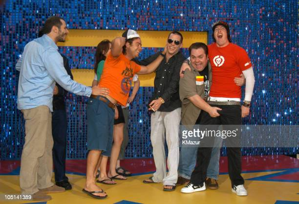 Cast of Jackass during 2003 MTV Movie Awards Arrivals at The Shrine Auditorium in Los Angeles California United States