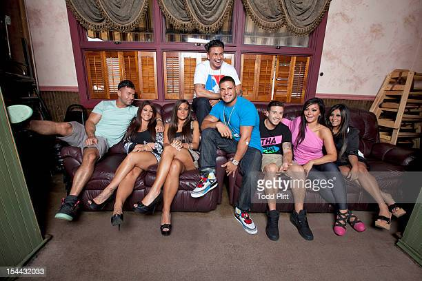 Cast of Jersey Shore are photographed for USA Today on July 9 2012 in Toms River New Jersey PUBLISHED IMAGE
